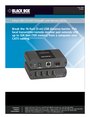 Black Box 4-Port USB 2.0 CAT5 Extender with Remote Power Manual