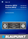 Blaupunkt Acapulco MP52 Operating Instructions