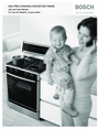 Bosch Appliances BOSCH GAS FREE-STANDING CONVECTION RANGE Manual