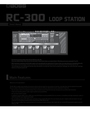 Boss Audio Systems RC-300 Owner Manual