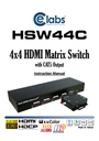 Cable Electronics HSW44C Instruction Manual