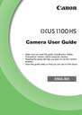 Canon 1100HS Manual