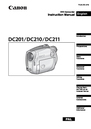 Canon DC201 Instruction Manual