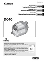 Canon DC40 Instruction Manual