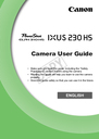 Canon 230 HS Manual