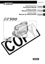 Canon ZR500 Manual