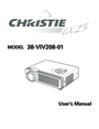 Christie Digital Systems 38-VIV208-01 User Manual