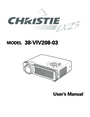 Christie Digital Systems 38-VIV208-03 User Manual