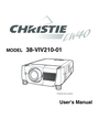 Christie Digital Systems 38-VIV210-01 User Manual
