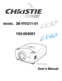 Christie Digital Systems 38-VIV211-01 User Manual