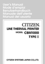 Citizen Systems CBM1000 User Manual