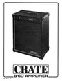 Crate Amplifiers B.60 Manual