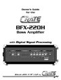 Crate Amplifiers BFX-220H Manual