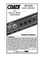 Crate Amplifiers BFX100 Owner Manual