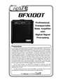 Crate Amplifiers BFX100T Manual