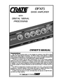 Crate Amplifiers BFX15 Owner Manual