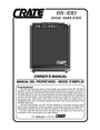 Crate Amplifiers BX-100 Owner Manual