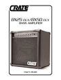 Crate Amplifiers BX50 DLX Manual
