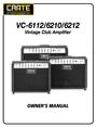 Crate Amplifiers 6210 Owner Manual