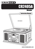 Crosley Radio CR2405A Manual