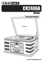 Crosley Radio CR2406A Manual
