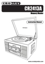 Crosley Radio CR2413ABK Manual
