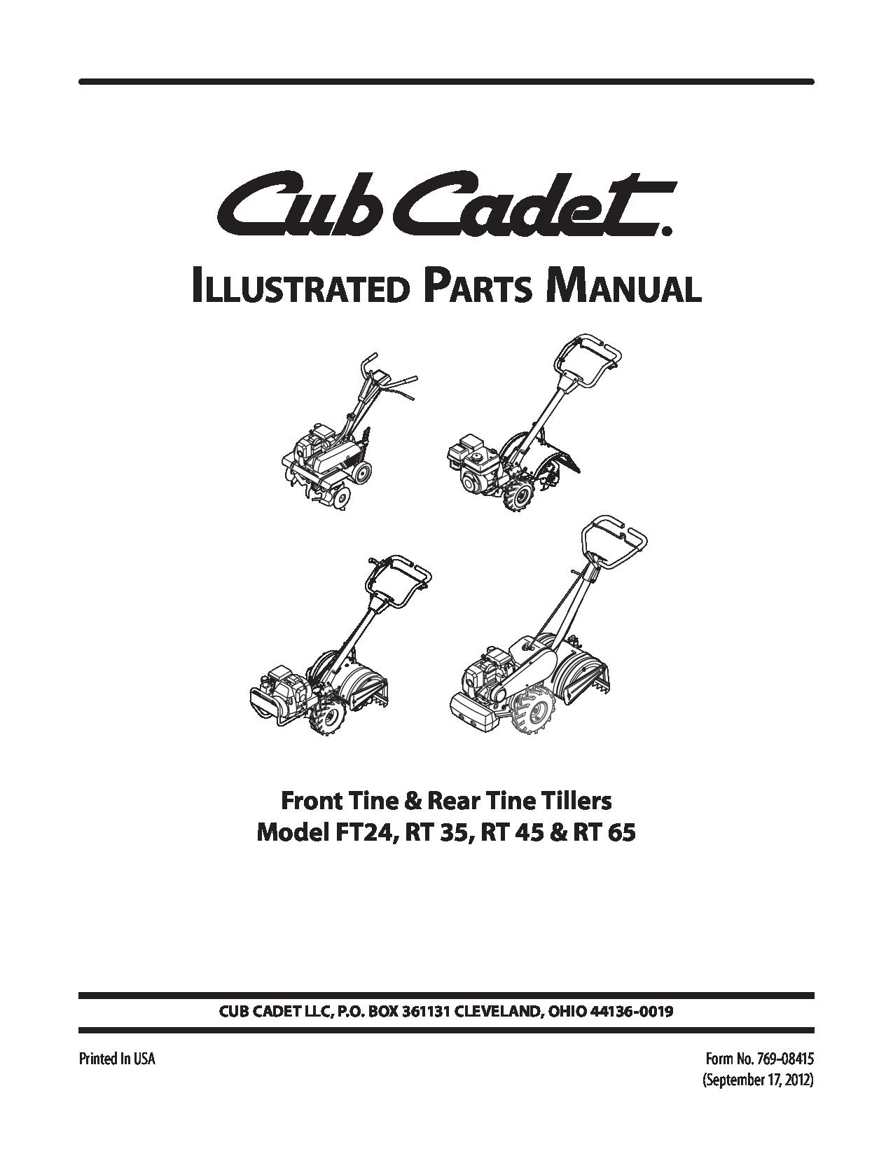 Wiring Database 2020  25 Cub Cadet Tiller Parts Diagram