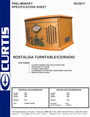 Curtis RCD817 Specifications