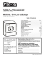 Electrolux - Gibson 134032900A Important Safety Instructions