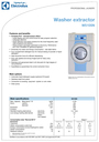 Electrolux W5105N Specifications