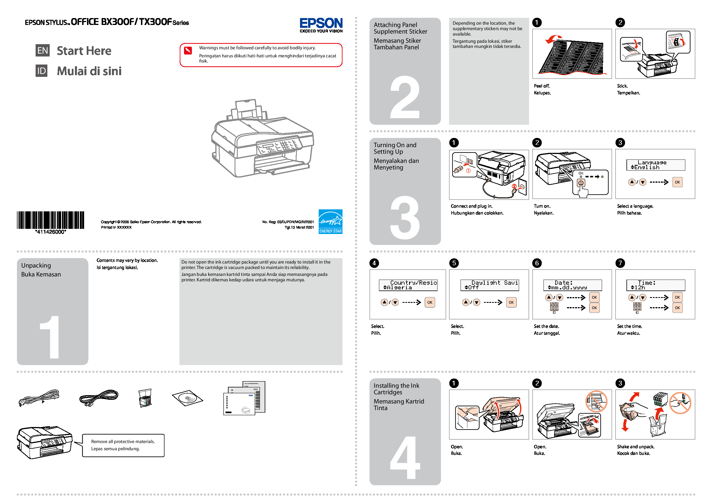 Epson 03/DJPDN/MG/III/2001 Manual