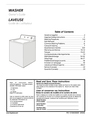 Frigidaire 131843000E Important Safety Instructions