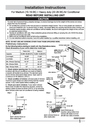 Frigidaire 2020219A0951 Installation Instructions