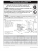 Frigidaire 318201534 Installation Instructions