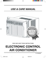 Frigidaire ELECTRONIC CONTROL AIR CONDITIONER Manual