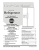 Frigidaire FRS6R3JW4 Important Safety Instructions