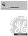 GE GE TV Manual