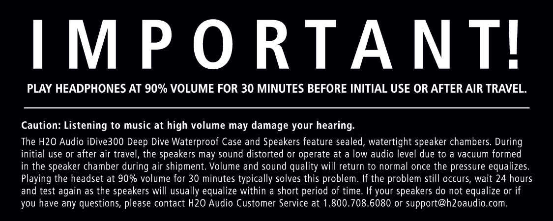 H2O Audio iDV1-5A1 Manual