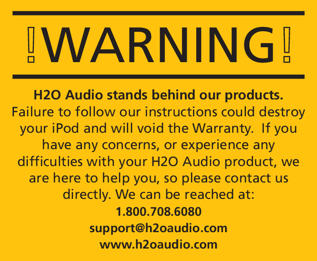 H2O Audio S5 Warranty