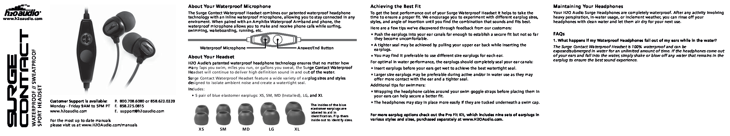 H2O Audio XL Manual
