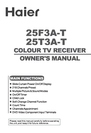Haier 25F3A-T Owner Manual