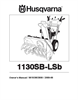Husqvarna 1130SB-LSB Owner Manual