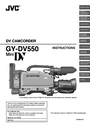 JVC GY-DV550U Instruction Manual