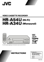 JVC HR-A34U Instruction Manual