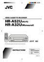 JVC HR-A32U, HR-A52U Instruction Manual