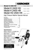 Karcher G 2400 HH Specifications