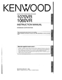 Kenwood 1070VR Manual