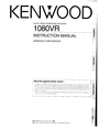 Kenwood 1080VR Manual
