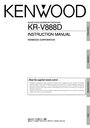 Kenwood KR-V888D Instruction Manual
