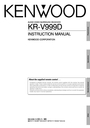 Kenwood KR-V999D Manual